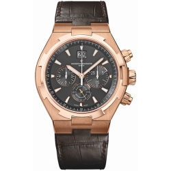 Vacheron Constantin Overseas Mens Rose Gold Watch 49150/000R-9338