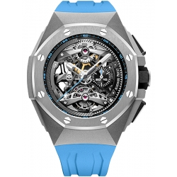 26587TI.OO.D031CA.01 Audemars Piguet Royal Oak Concept Tourbillon Chronograph Openworked Blue Watch