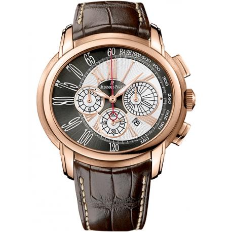 26145OR.OO.D093CR.01 Audemars Piguet Millenary Chronograph 18K Pink Gold Watch