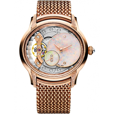 77244OR.GG.1272OR.01 Audemars Piguet Millenary Frosted Gold Opal Dial Watch