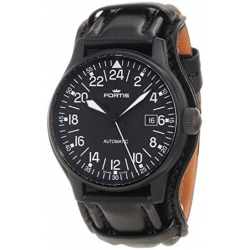 Fortis 24 Hour Pvd Series Black Dial Mens Watch 596.18.41L