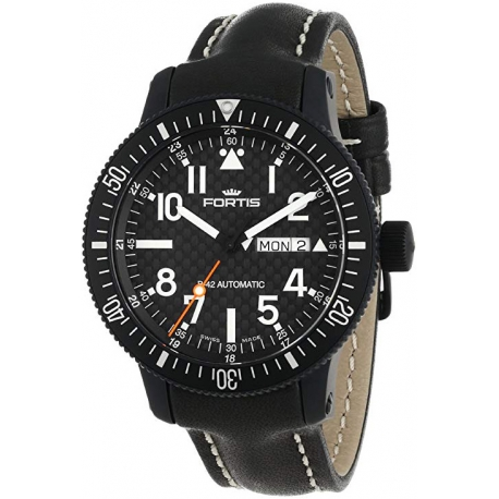 Fortis B-24 Automatic Series Black PVD Steel Watch 647.28.71R