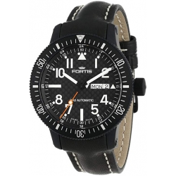 Fortis B-24 Automatic Series Mens Black PVD Steel Watch 647.28.71R