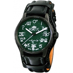 Fortis IQ Series Mens Black PVD Steel Watch 596.18.61L