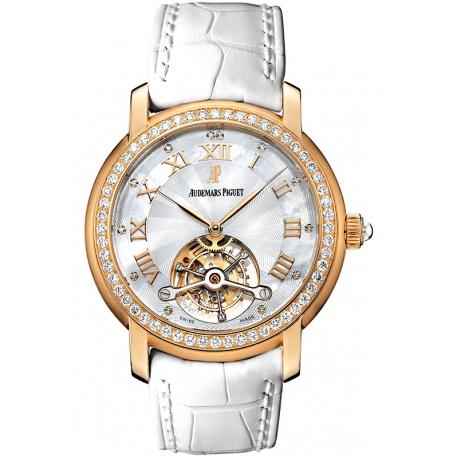 26084OR.ZZ.D016CR.01 Audemars Piguet Jules Tourbillon 18K Rose Gold Diamond Watch
