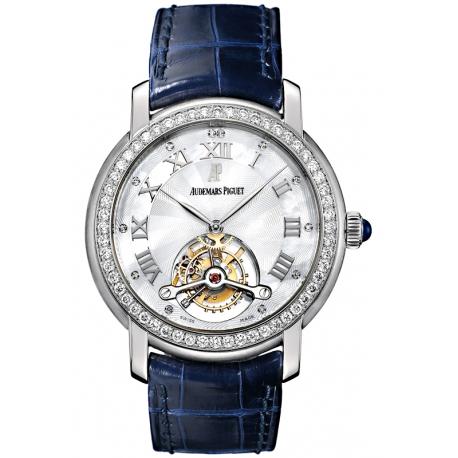 26084BC.ZZ.D056CR.01 Audemars Piguet Jules Tourbillon 18K White Gold Diamond Watch