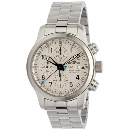 Fortis B-42 Flieger Chronograph Steel Bracelet Watch 637.10.12M
