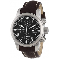 Fortis B-42 Flieger Chronograph Mens Steel Case Watch 656.10.11L