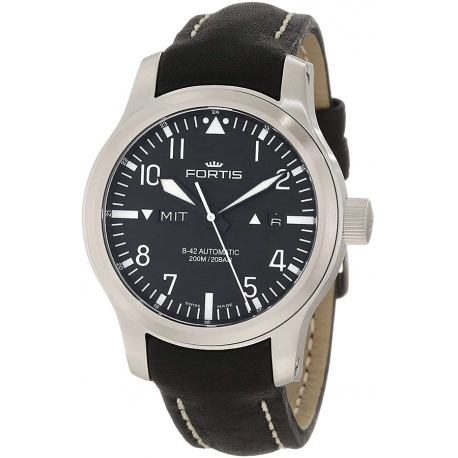 Fortis B-42 Flieger Series Day Date Automatic Mens Watch 655.10.11L