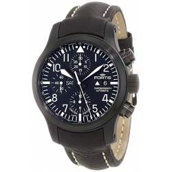 Fortis B 42 Flieger Automatic Mens Black PVD Watch 656.18.81L