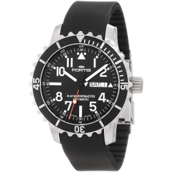 Fortis B-42 Marinemaster Automatic Black Dial Watch 670.10.41K