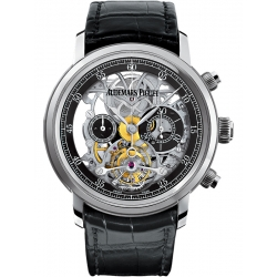 26346BC.OO.D002CR.01 Audemars Piguet Jules Tourbillon Chronograph Openworked Watch