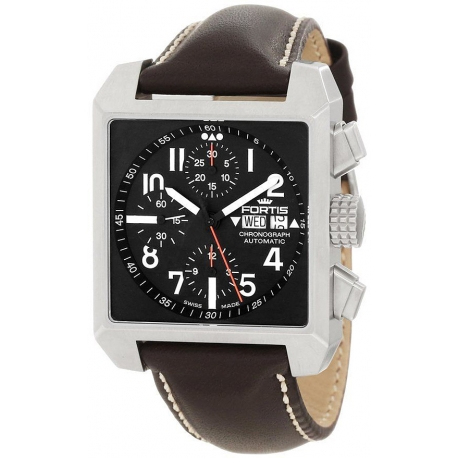 Fortis Square Series Mens Steel Chronograph Watch 667.10.41L16