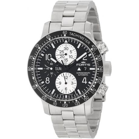 Fortis B-42 Stratoliner Chronograph Mens Steel Bracelet Watch 665.10.11M