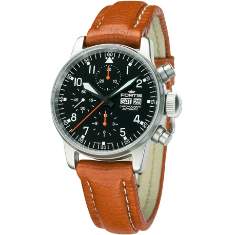 Fortis Flieger Chronograph Series Mens Steel Watch 597.11.11L08