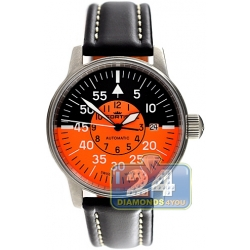Fortis Flieger Cockpit Automatic Orange Dial Watch 595.11.13 L.01