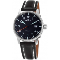 Fortis Flieger Series Mens Black Dial Swiss Automatic Watch 595.11.41L