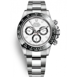 Rolex Cosmograph Daytona Stainless Steel White Dial Watch 116500LN