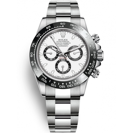 116500LN-0001 Rolex Oyster Cosmograph Daytona Steel White Dial 40 mm Watch