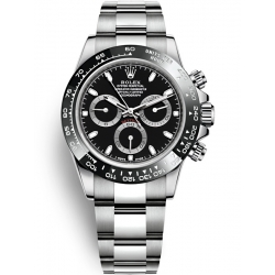 Rolex Cosmograph Daytona Stainless Steel Black Dial Watch 116500LN