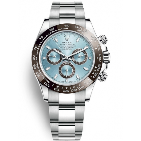 116506-0001 Rolex Oyster Cosmograph Daytona Platinum Ice Blue Dial 40 mm Watch