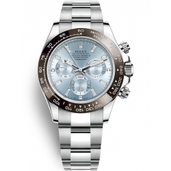 Rolex Cosmograph Daytona Platinum Ice Blue Dial Watch 116506