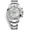 116509-0064 Rolex Oyster Cosmograph Daytona White Gold White MOP Dial Watch
