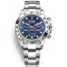 116509-0071 Rolex Oyster Cosmograph Daytona White Gold Blue Dial Watch