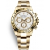116508-0001 Rolex Oyster Cosmograph Daytona Yellow Gold White Dial Watch