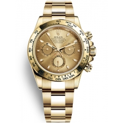 Rolex Cosmograph Daytona Yellow Gold Champagne Dial Watch 116508