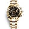 116508-0004 Rolex Oyster Cosmograph Daytona Yellow Gold Black Dial Watch