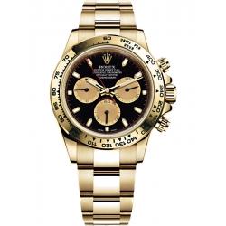 Rolex Cosmograph Daytona Yellow Gold Black Champagne Dial Watch 116508