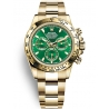 116508-0013 Rolex Oyster Cosmograph Daytona Yellow Gold Green Dial Watch