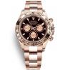 116505-0008 Rolex Oyster Cosmograph Daytona Everose Gold Black Pink Dial Watch
