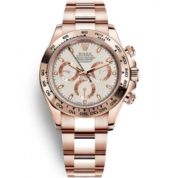 Rolex Cosmograph Daytona Everose Gold Ivory Dial Watch 116505