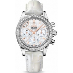 Omega De Ville Co-Axial Chrono Womens Diamond Watch 422.18.35.50.05.001