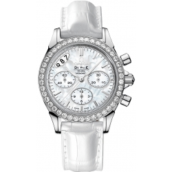 Omega De Ville Co-Axial Chrono Womens Diamond Watch 422.18.35.50.05.002