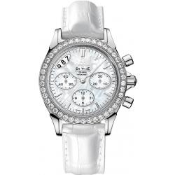 Omega De Ville Co-Axial Chrono Womens Diamond Watch 422.18.35.50.05.002
