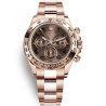 116505-0011 Rolex Oyster Cosmograph Daytona Everose Gold Chocolate Dial Watch