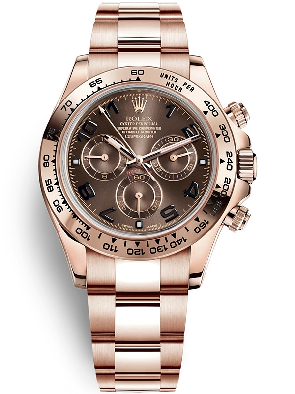 Daytona Dog Track >> 116505 Rolex Daytona 18K Everose Gold Chocolate Dial Watch