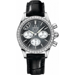 Omega De Ville Co-Axial Chrono Womens Diamond Watch 422.18.35.50.06.001