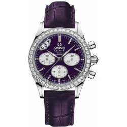 Omega De Ville Co-Axial Chrono Womens Purple Watch 422.18.35.50.10.001