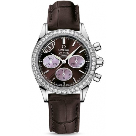 Omega De Ville Co-Axial Chrono Brown Watch 422.18.35.50.13.001