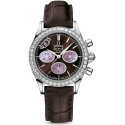 Omega De Ville Co-Axial Chrono Womens Brown Watch 422.18.35.50.13.001