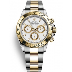 Rolex Cosmograph Daytona Steel Yellow Gold White Dial Watch 116503