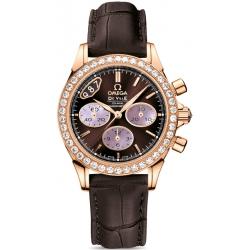 Omega De Ville Co-Axial Chrono Womens Diamond Watch 422.58.35.50.13.001