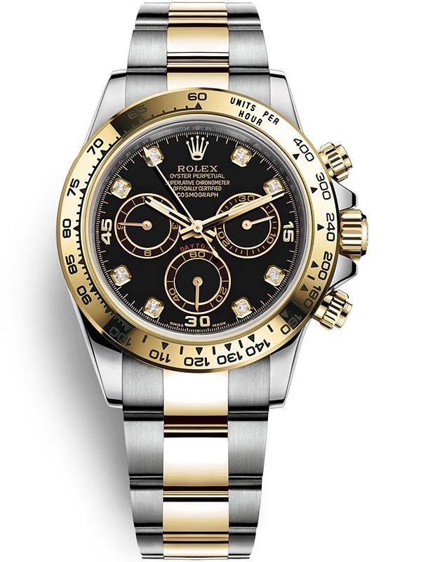 Daytona Dog Track >> 116503 Rolex Daytona Steel Yellow Gold Diamond Black Dial ...