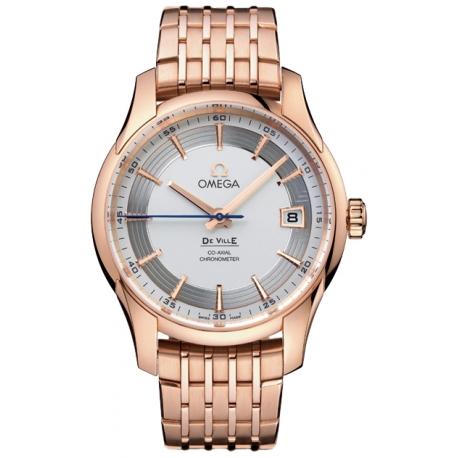 Omega De Ville Hour Vision Gold Bracelet Watch 431.60.41.21.02.001