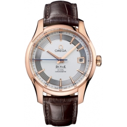 Omega De Ville Hour Vision Mens Rose Gold Watch 431.63.41.21.02.001