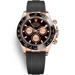 Rolex Cosmograph Daytona Everose Gold Black Pink Dial Watch 116515LN